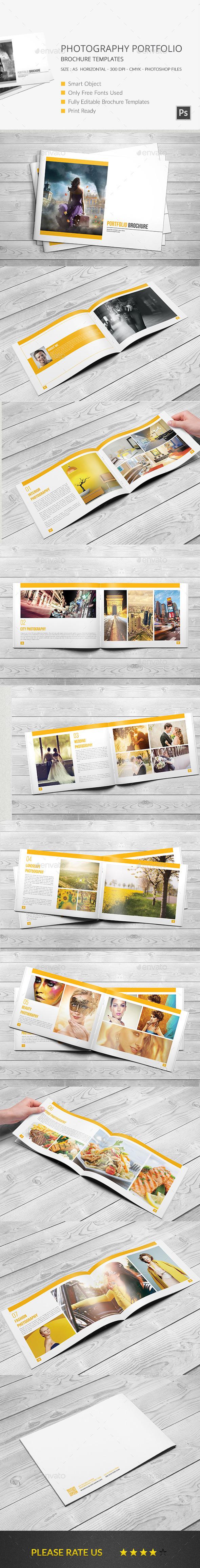 GraphicRiver Photography Portfolio Brochure Template 11226526