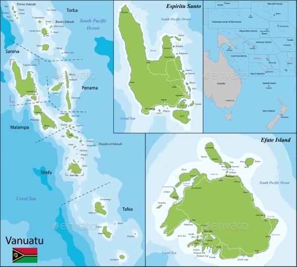 GraphicRiver Vanuatu Map 11226529