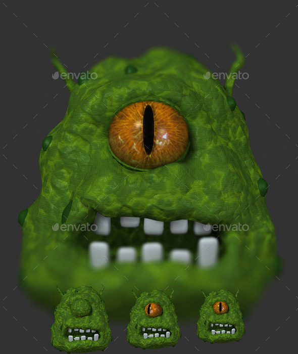 GraphicRiver Alien Monster 3D Sprite Animation 35 frames 11203060