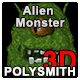 Alien Monster 3d Sprite Animation 35 frames