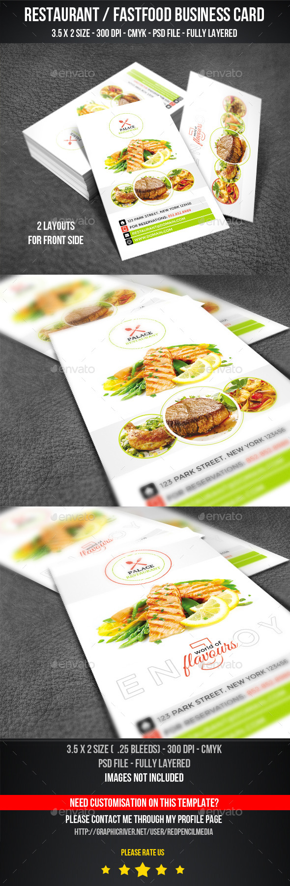 GraphicRiver Restaurant Business Card 11226708