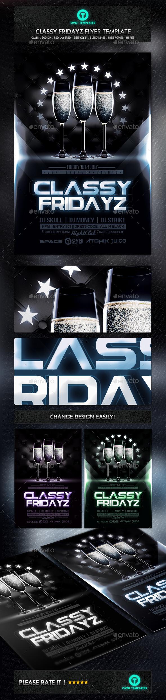 GraphicRiver Classy Champagne Night Flyer Template 11226807