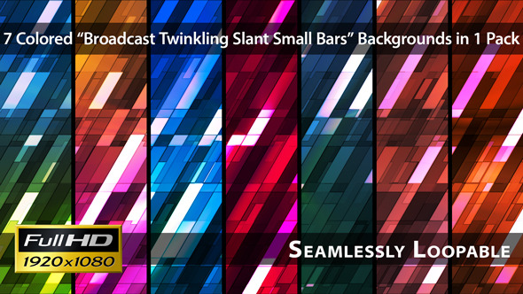 Broadcast Twinkling Slant Small Bars Pack 02