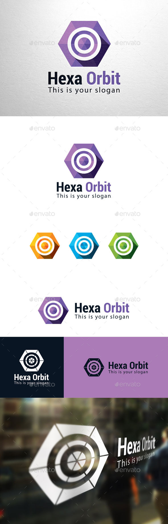 GraphicRiver Hexa Orbit Logo 11226939