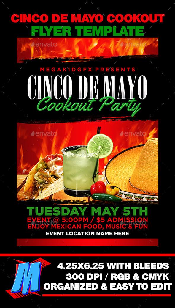 GraphicRiver Cinco De Mayo Cookout Flyer 11226976