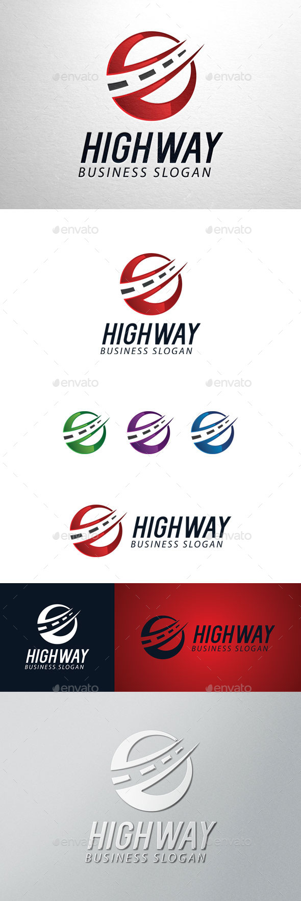 GraphicRiver Highway Logo 11226990