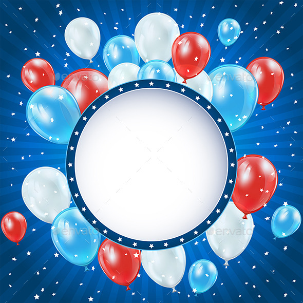 GraphicRiver Independence Day Background with Balloons 11227146