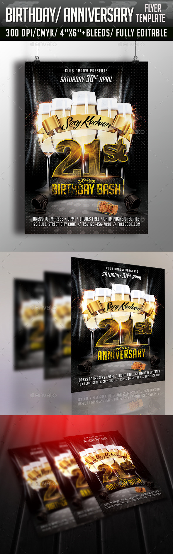 GraphicRiver Birthday Bash Anniversary Flyer 11227149