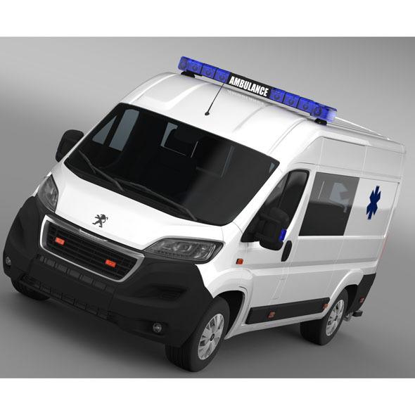 3DOcean Peugeot Boxer Van Ambulance 2015 11227199