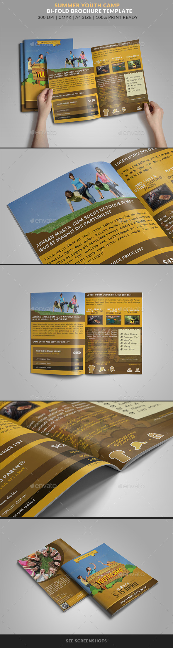 GraphicRiver Summer Youth Camp bifold brochure 2 11227203