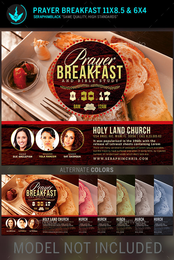 GraphicRiver Prayer Breakfast Church Flyer Template 11227303