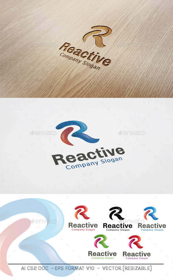 GraphicRiver Reactive R letter Logo 11227307