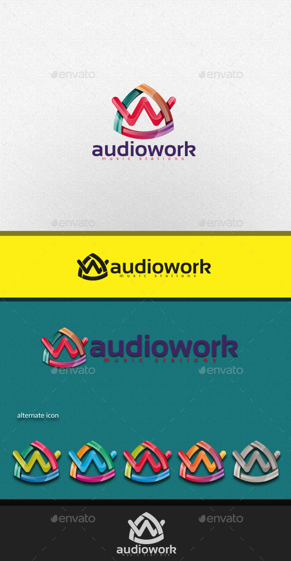 GraphicRiver Audiowork Letter AW 11227320