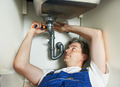 plumber man worker with kitchen sink - PhotoDune Item for Sale