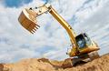 excavator loader at earthmoving works - PhotoDune Item for Sale
