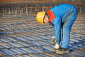 Builder making reinforcement for concrete - PhotoDune Item for Sale