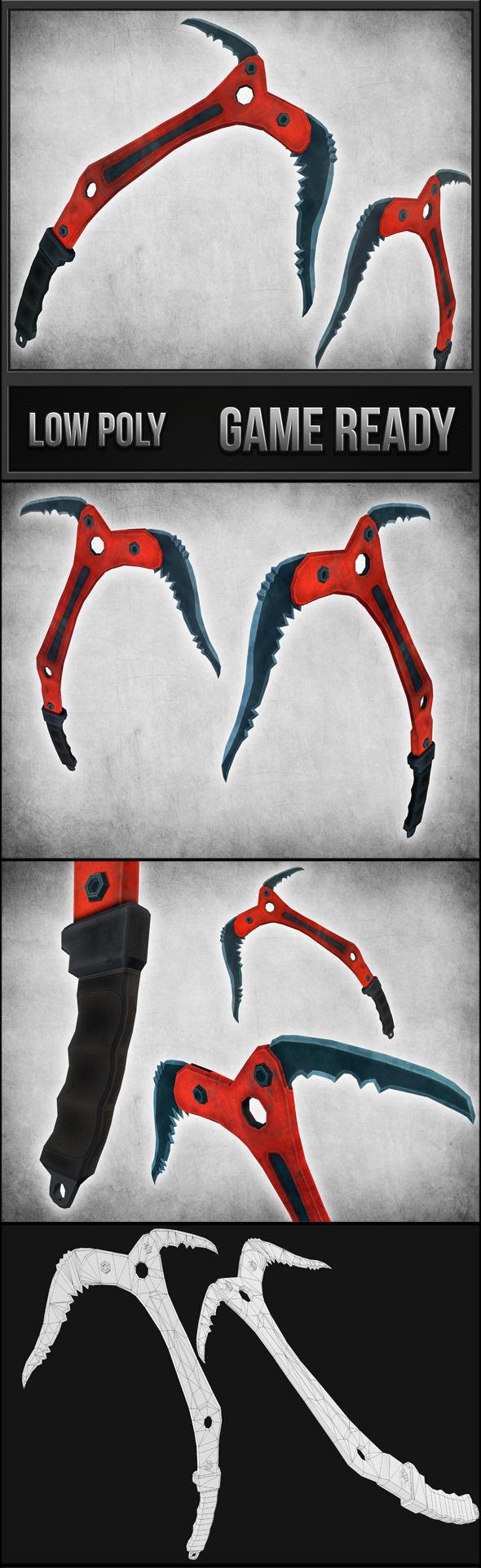 3DOcean Climbing Axe 11227620