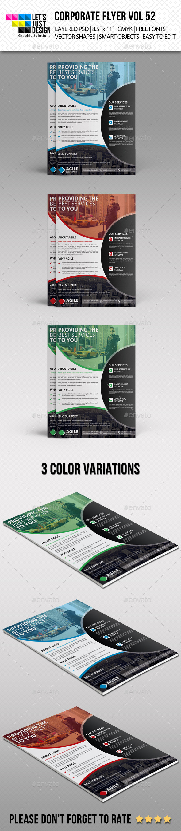 GraphicRiver Corporate Flyer Template Vol 52 11227660