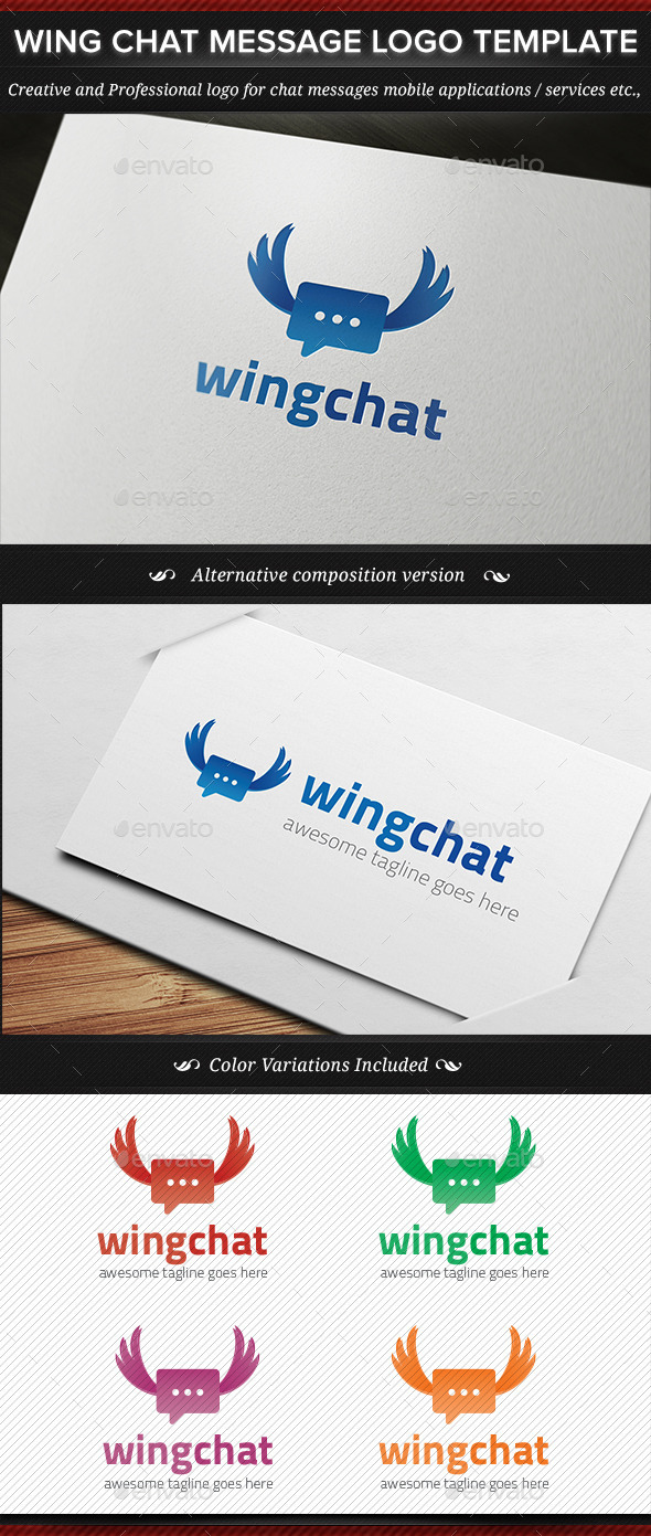 GraphicRiver Wing Chat Message Logo Template 11227679