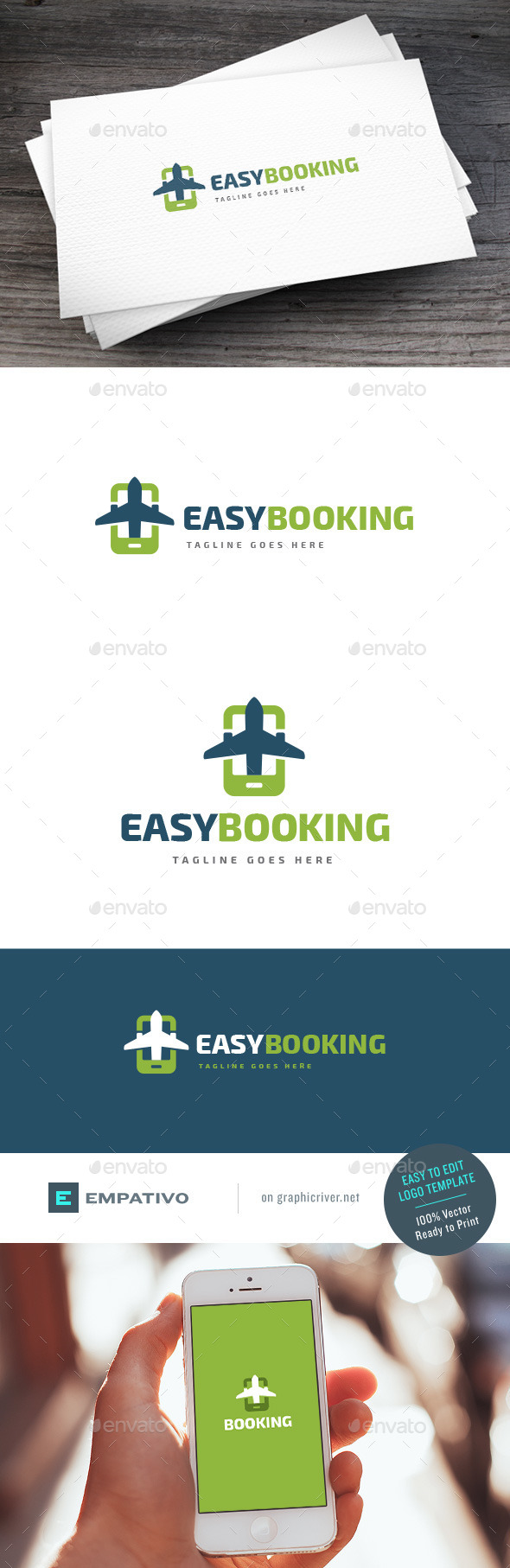 GraphicRiver Easy Booking Logo Template 11227757