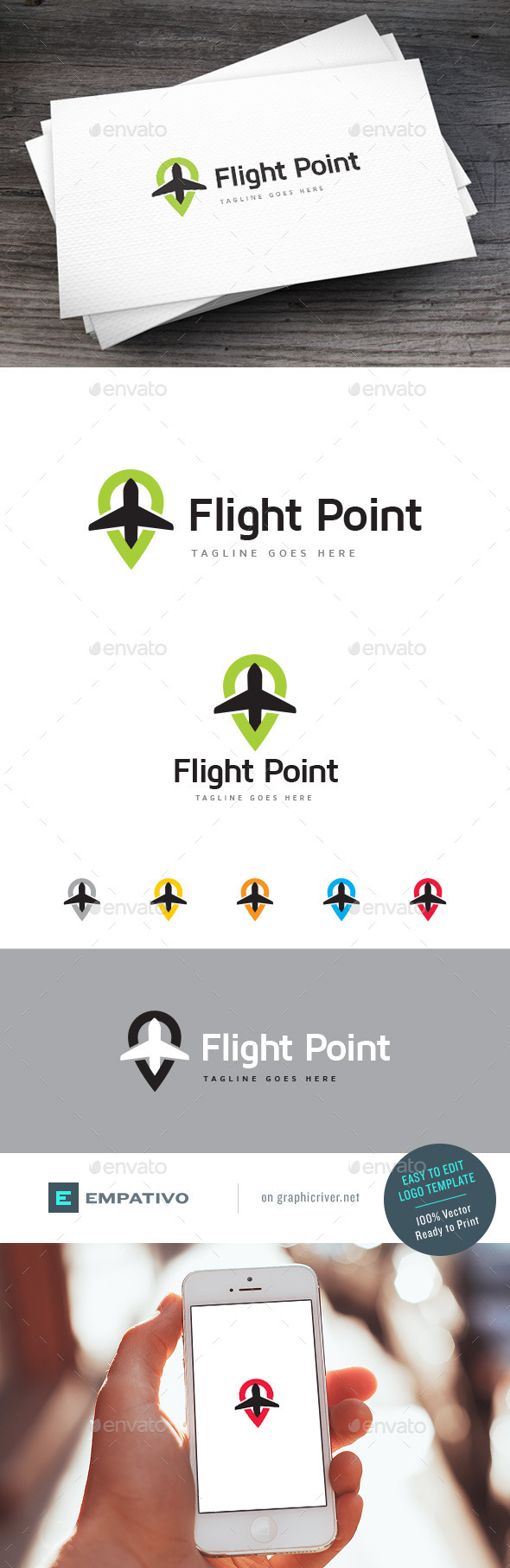 GraphicRiver Flight Point Logo Template 11227766