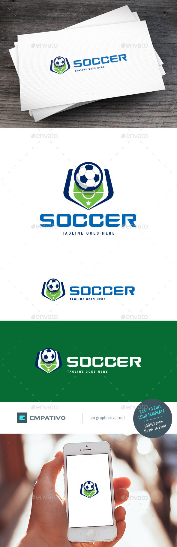 GraphicRiver Soccer Court Logo Template 11227770