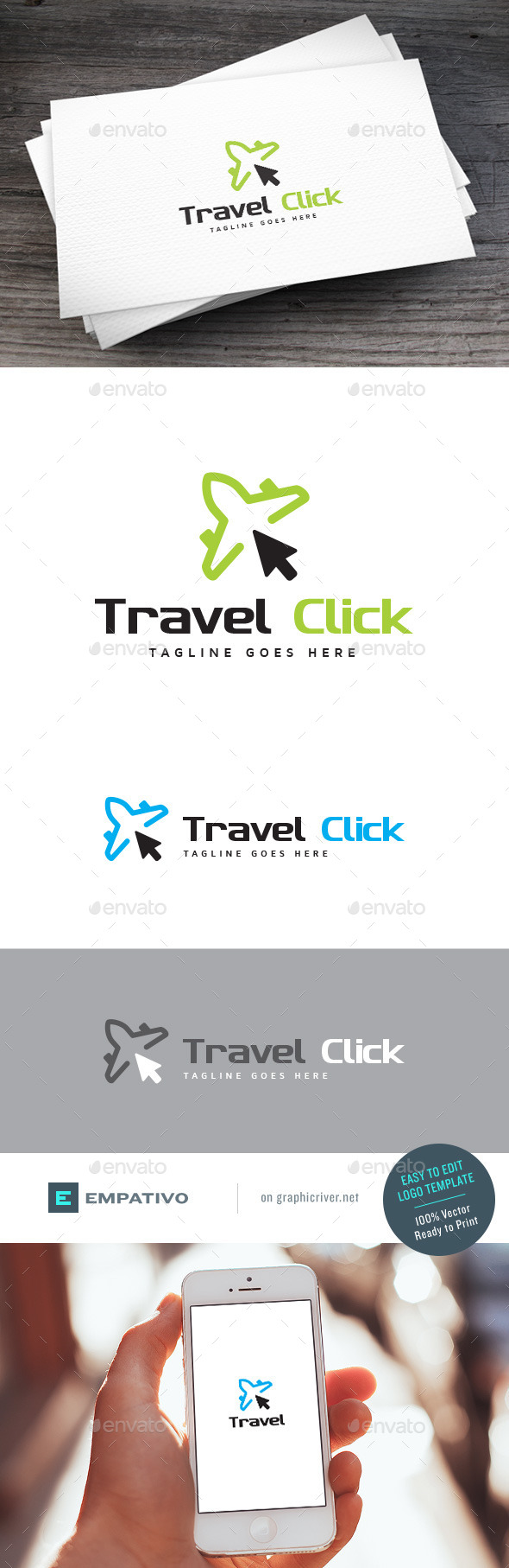 GraphicRiver Travel Click Logo Template 11227775