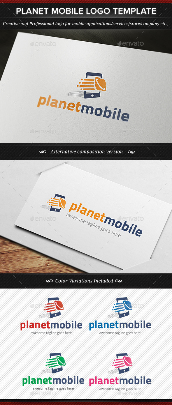 GraphicRiver Planet Mobile Logo Template 11227862