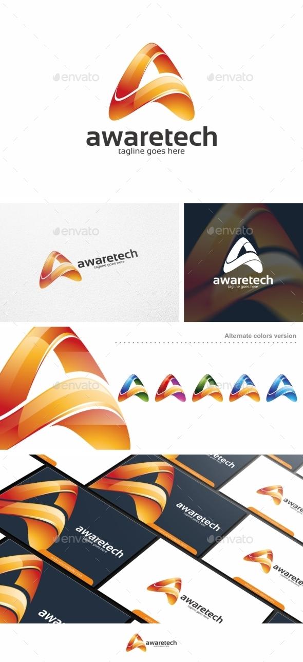 GraphicRiver Awaretech Letter A Logo Template 11228565