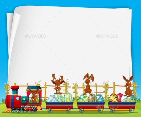 GraphicRiver Rabbits and Train 11228689