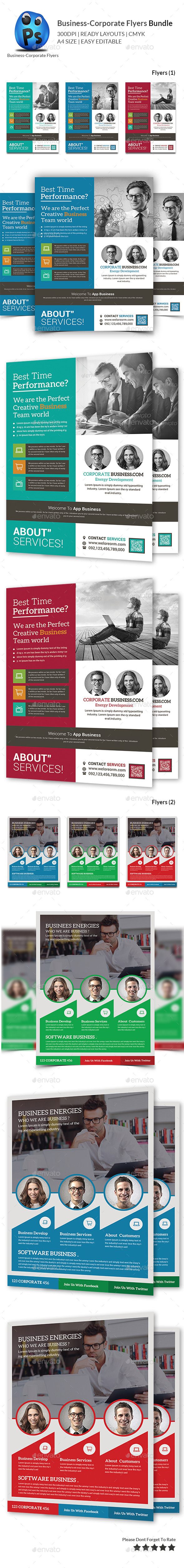 GraphicRiver Corporate Business Flyer Bundle 11228947