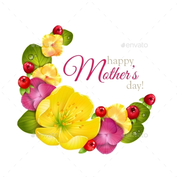 GraphicRiver Greeting Card For Mothers Day With Flowers 11228951