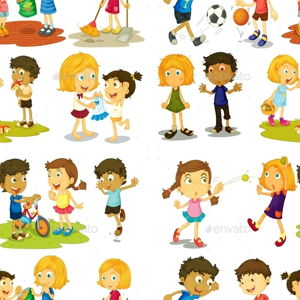 GraphicRiver Seamless Children 11228964
