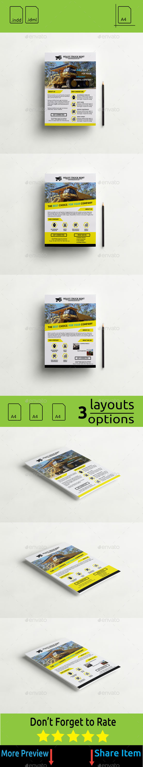 GraphicRiver Flyer Heavy Truck Rent 11229205