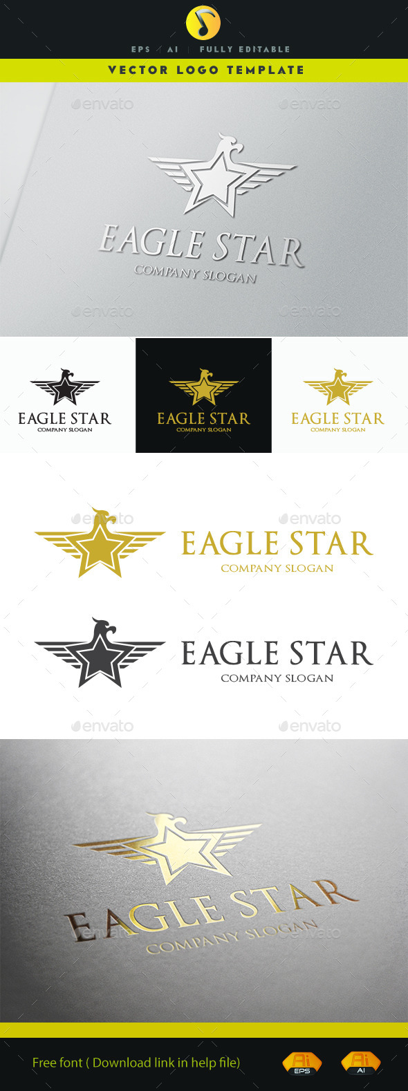GraphicRiver Eagle Star 11229420