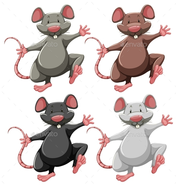GraphicRiver Four Mice 11229525