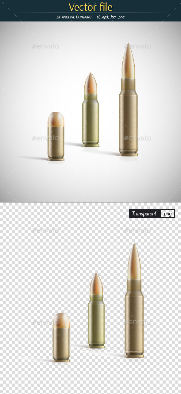 GraphicRiver Bullets Set 11229656