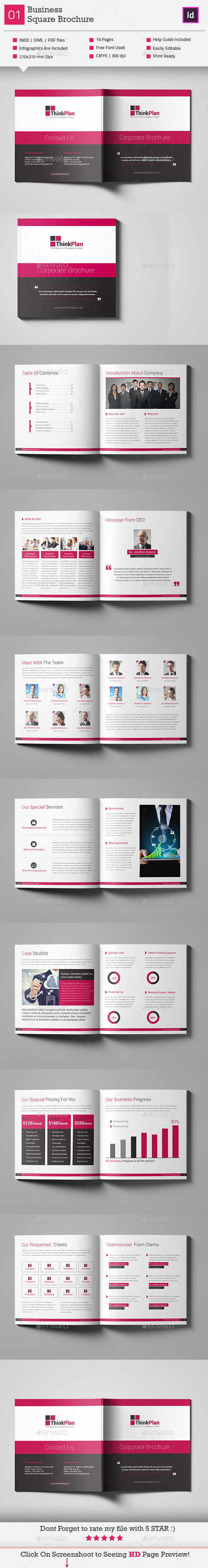 GraphicRiver Business Square Brochure Template V1 11229881