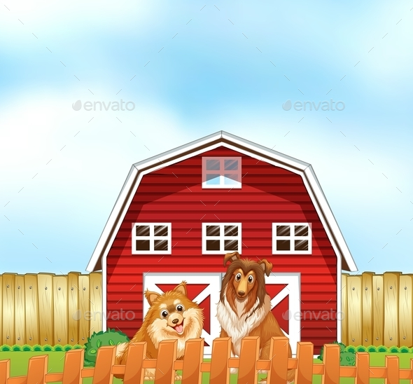 GraphicRiver Dogs and Barn 11230393