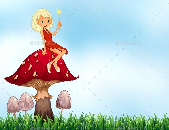GraphicRiver Mushroom and Fairy 11231205