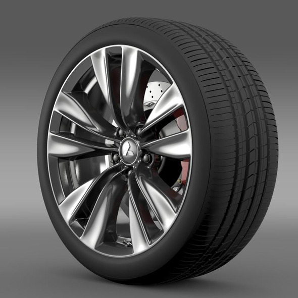 Mitsubishi Proudia wheel - 3DOcean Item for Sale