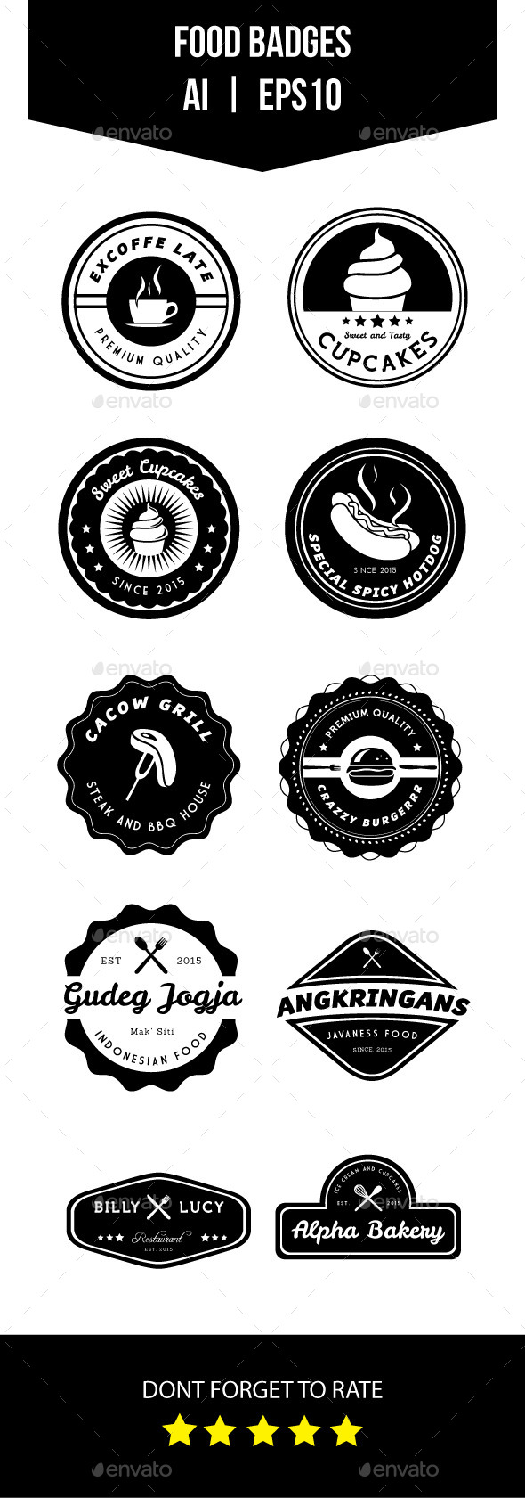 GraphicRiver Food Badges 11231795