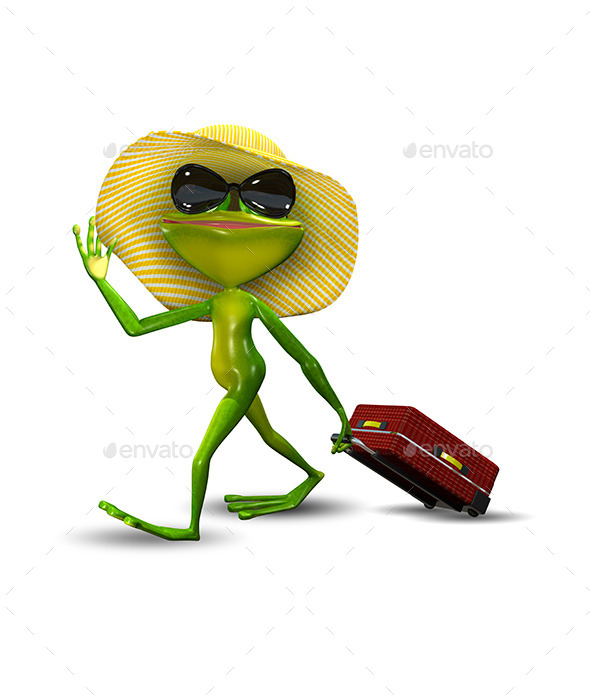GraphicRiver Frog with a Suitcase in a Hat 11231797