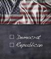 Democrat and Republican sign. - PhotoDune Item for Sale
