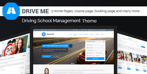 ThemeForest Driveme Driving Class School WordPress Theme 11233996