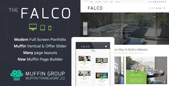 Falco - Responsive Multi-Purpose WordPress Theme - Business Corporate