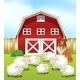 Sheep and Barn - GraphicRiver Item for Sale