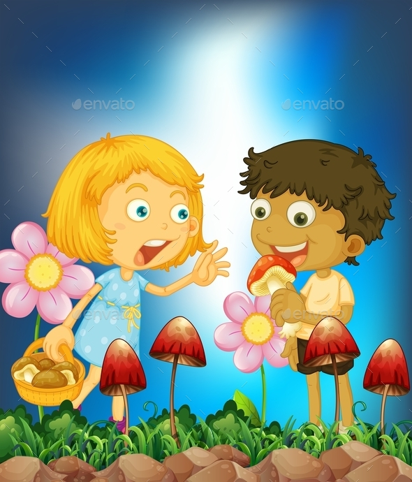 GraphicRiver Children and Mushroom 11237238