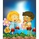 Children and Mushroom - GraphicRiver Item for Sale
