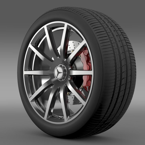 AMG Mercedes Benz S 63 wheel - 3DOcean Item for Sale